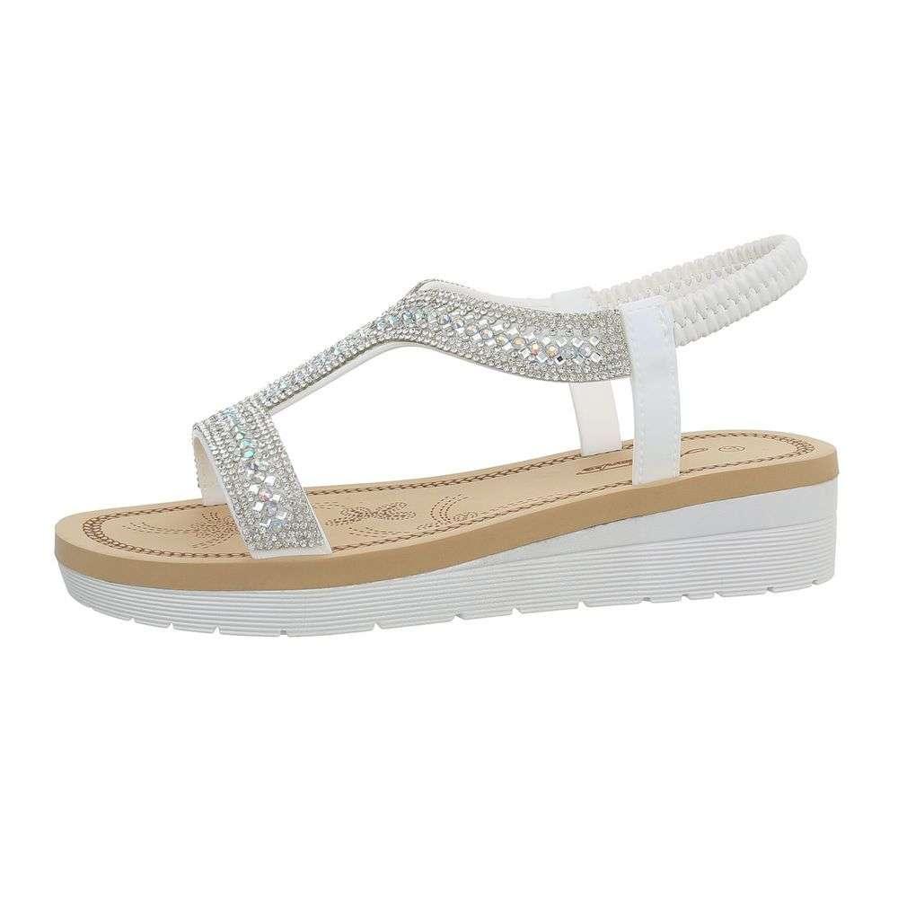 79227b9db1c3 Biele dámske sandále TOP-1085-white