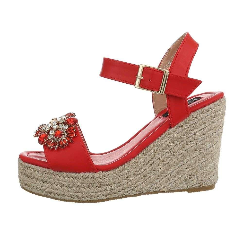 d6476709efe1 Luxusné sandále na platforme TOP-MT045-red