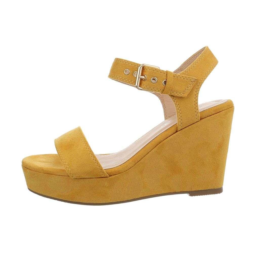 1d159f8fdcbe Žlté sandále na platforme TOP-7292-yellow