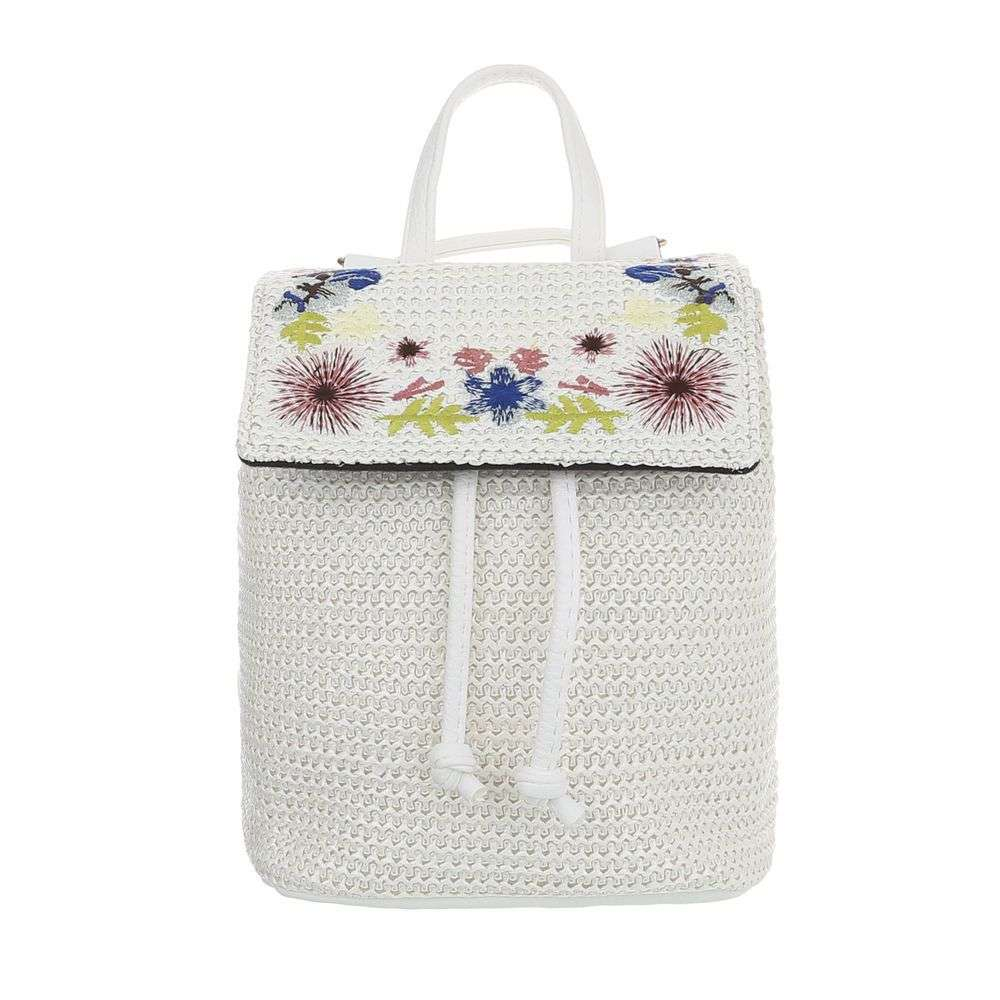 Crossbody / mini vak s nášivkami VSGL-TA-51120-16-white