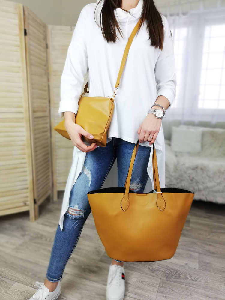 Shopper kabelka 2v1 VSGL-2835-210-yellow