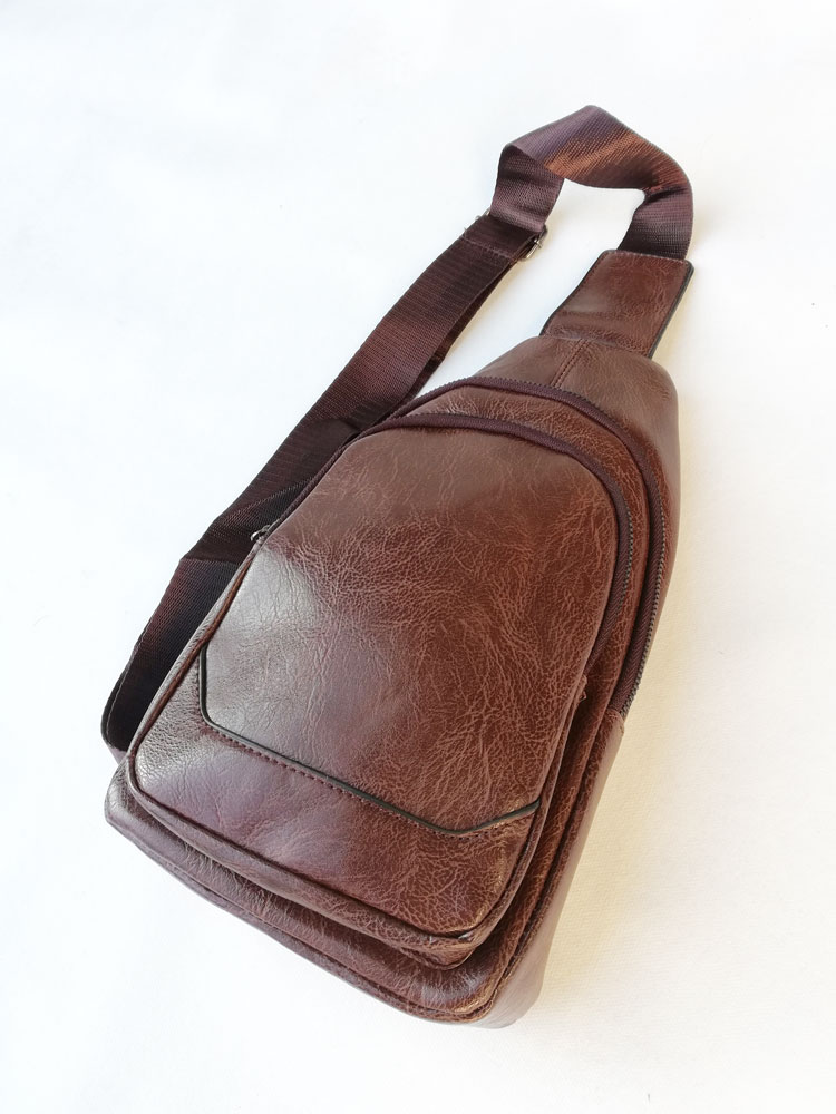 Pánska crossbody kapsička NK-9957-d.brown