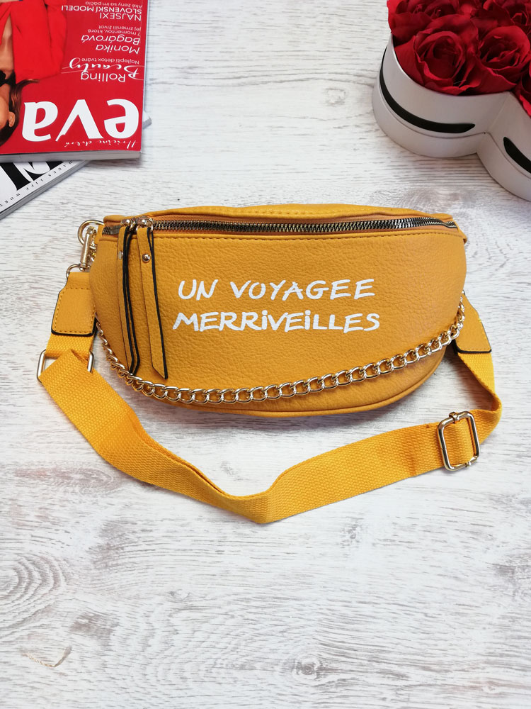 Žltá crossbody kapsička WE-HB94-155-yellow