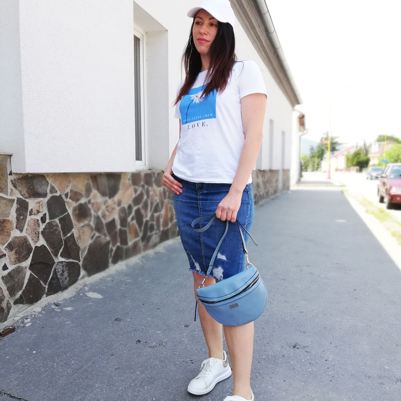 Bedrová kapsička VIVI WE-VP003-blue