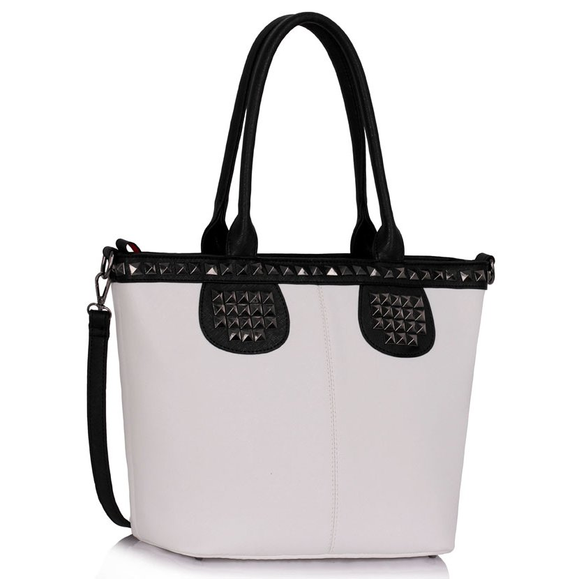 Trendy kabelka LOVELY Rebel DK00344-black/white
