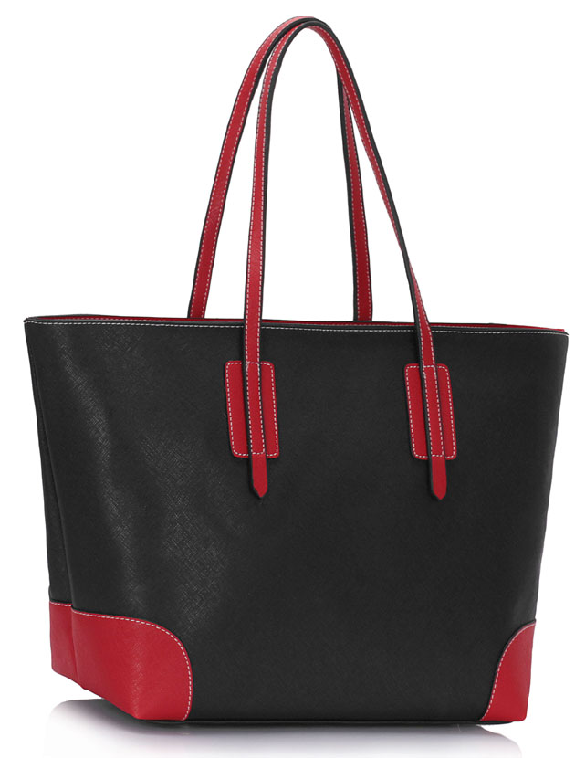 Shopperka na rameno 0088A-black/red