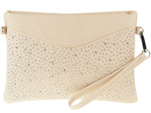 Diamantiková crossbody DKO3007-nude
