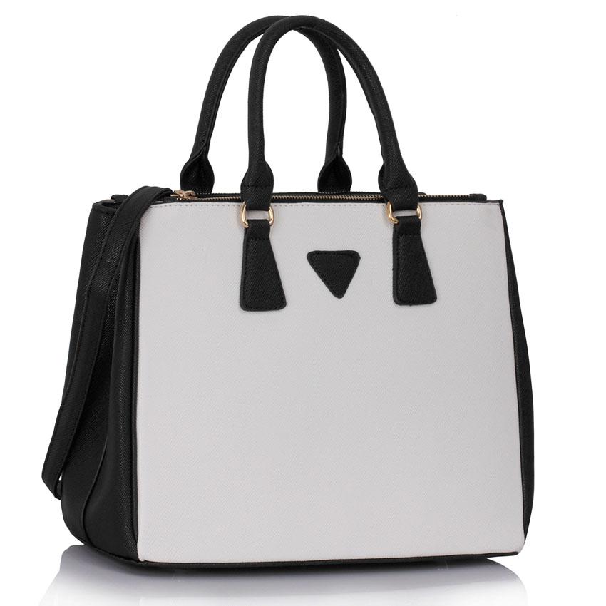 4fa2e164f0 Business kabelka DK00184M-black white empty