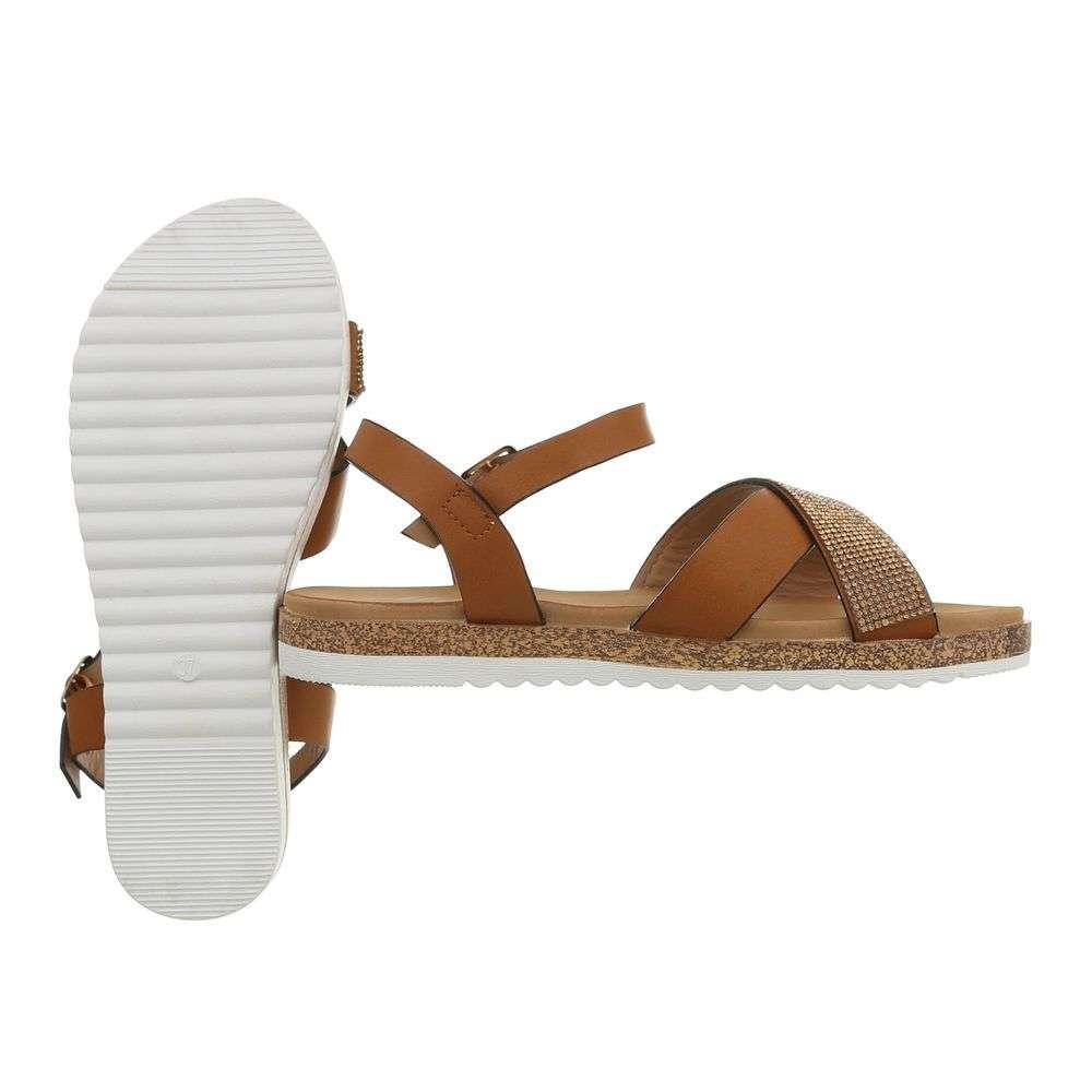 53ba80fc97 Hnedé dámske sandále TOP-D-116-camel
