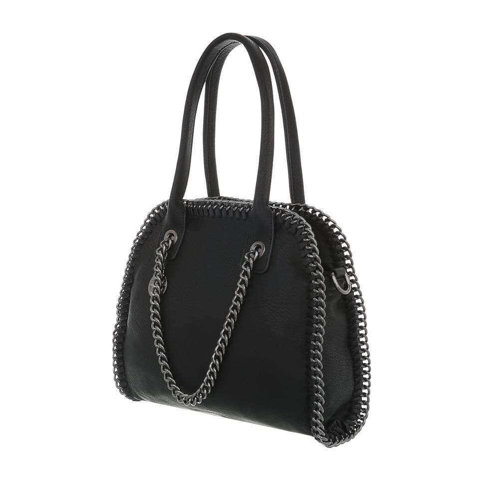 Čierna dámska kabelka s retiazkou VSGL-TA-3140-34B-black 7d77fdb8cc4