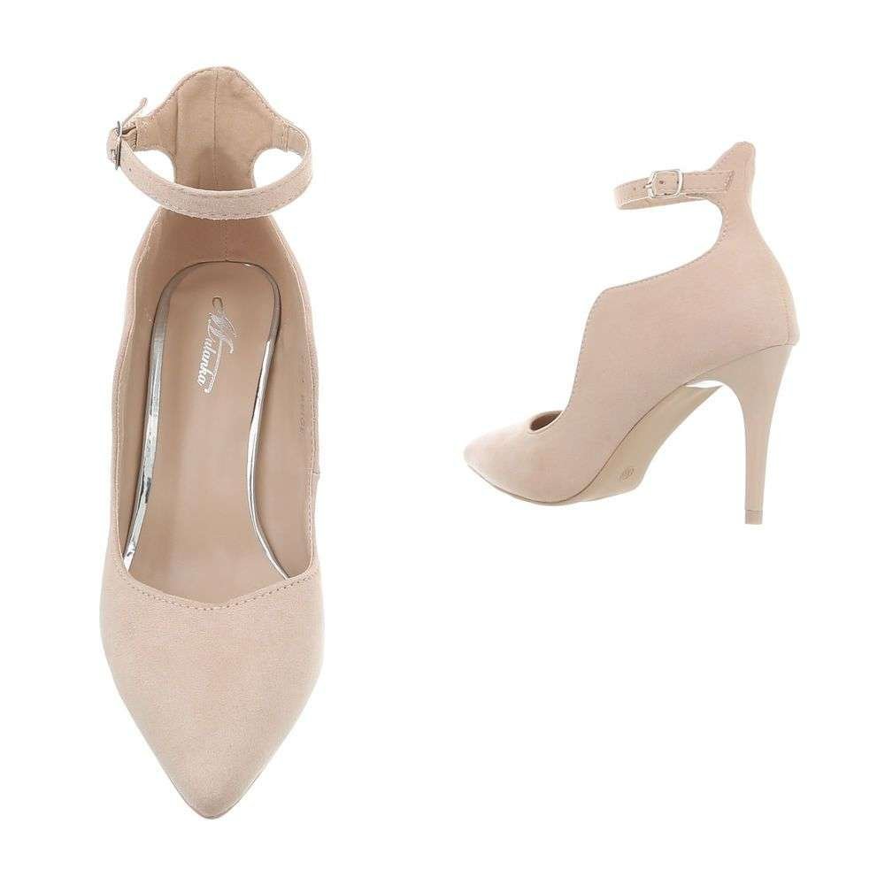Asymetrické spoločenské topánky na opätku TOP-B-54-beige c2a9dfa7c38