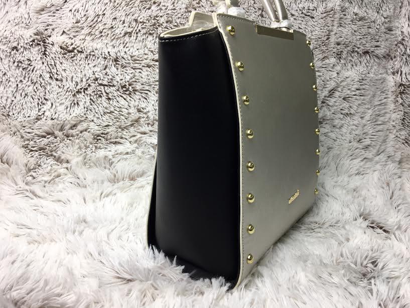 106dc27674 Strieborno-čierna kabelka do ruky MONNARI MON0550-silver-NEW